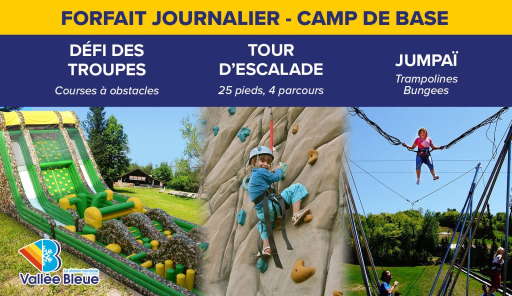 Activités d'été en famille dans les Laurentides - Forfait Camp de Base